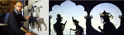 Hamid Rahmanian and puppets