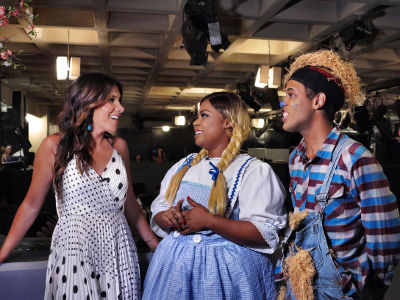 Joelle Garguilo interviews Taylor-Rey Rivera (Dorothy) and Derrick Montalvo (Scarecrow).