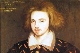 Anonymous portrait in Corpus Christi College, Cambridge, believed to show Christopher Marlowe.