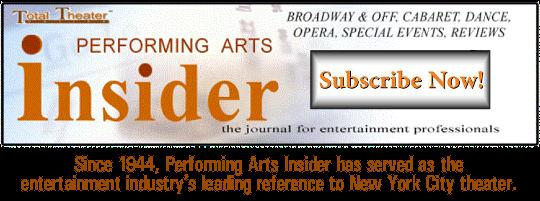 Performing Arts Insider subscription banner