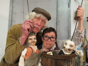 Vit Horejs as Vanek, Theresa Linnihan as Foreman/Brewmaster. Photo by Jonathan Slaff.